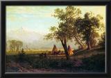 Albert Bierstadt Wind River Mountains in Nebraska Art Print Poster Photo