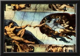 Michelangelo Buonarroti (Ceiling fresco of Creation in the Sistine Chapel, Main scene Poster Poster