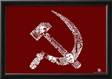 Soviet Pics and Text Poster Poster