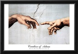Michaelangelo Creation Of Adam 2 Art Print POSTER Posters