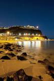 Town Lights at Night, Puerto Rico, Gran Canaria, Spain Photographic Print by Guido Cozzi