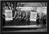 Women Suffragists Picketing in Front of White House Archival Photo Poster Posters