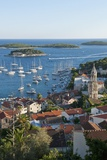 View of the Town from Fortress, Hvar Town, Hvar Island, Croatia Photographic Print by Guido Cozzi