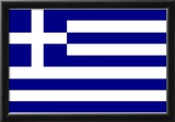 Greece National Flag Poster Print Posters