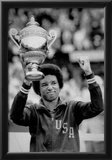 Arthur Ashe Defeats Jimmy Connors Tennis Trophy Archival Photo Sports Poster Prints