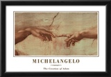 Michealengelo (Creation of Adam) Art Print Poster Prints