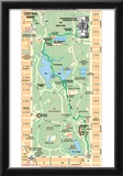 Michelin Official Central Park Map Art Print Poster Posters