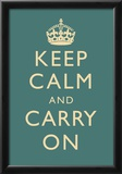 Keep Calm and Carry On Motivational Slate Art Print Poster Print