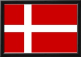 Denmark National Flag Poster Print Prints