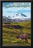 Denali National Park, Alaska - Caribou and Stoney Overlook Prints