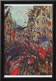 Claude Monet (Paris, Rue Saint-Denis, Celebration of National Day) Art Poster Print Posters