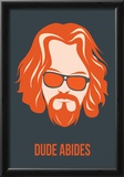 Dude Abides Orange Poster Photo