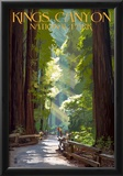 Kings Canyon National Park, California - Pathway and Hikers Print
