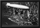 Hindenburg passing New York Archival Photo Poster Prints