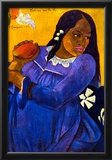 Paul Gauguin Woman with Mango Art Print Poster Prints