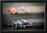 Dale Earnhardt and Mark Marin Archival Photo Poster Print