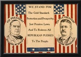 McKinley Roosevelt for President Historical Political Poster Print Posters