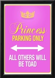 Princess Parking Only Pink Sign Poster Print Prints
