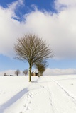 Winter Scene by a Chapel Photographic Print by Frank Lukasseck