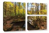 Blue Hen Falls, 3 Piece Gallery-Wrapped Canvas Flag Set Gallery Wrapped Canvas Set by Cody York