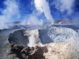 Volcanic Area of Sol De Manana, Bolivian Desert, Bolivia Photographic Print by Massimo Borchi