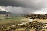 Storm Clouds over Baie Beau Vallon, Mahe, Seychelles, Indian Ocean Islands Photographic Print by Guido Cozzi