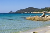 Beach near Town, Ajaccio, Corsica, France Photographic Print by Massimo Borchi