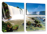 Iguassu Falls 3, 3 Piece Gallery-Wrapped Canvas Flag Set Prints by Cody York