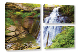 Brandywine Falls 2, 3 Piece Gallery-Wrapped Canvas Flag Set Prints by Cody York