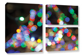 Bokeh 1, 3 Piece Gallery-Wrapped Canvas Flag Set Poster by Cody York