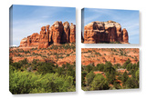 Sedona 2, 3 Piece Gallery-Wrapped Canvas Flag Set Posters by Cody York
