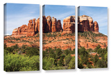 Sedona 2, 3 Piece Gallery-Wrapped Canvas Set Prints by Cody York
