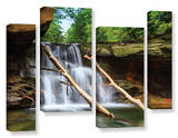 Brecksville Falls, 4 Piece Gallery-Wrapped Canvas Staggered Set Posters by Cody York