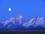 Moonlight on Grand Teton Range, Wyoming, USA Photographic Print by Stefano Amantini