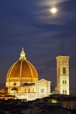 Main Duomo with Night Lights Photographic Print