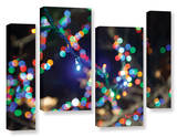 Bokeh 3, 4 Piece Gallery-Wrapped Canvas Staggered Set Prints by Cody York