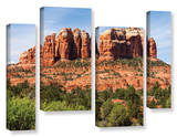 Sedona 2, 4 Piece Gallery-Wrapped Canvas Staggered Set Posters by Cody York