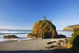 Rock Formations at Short Beach with Cape Meares, Oregon, USA Photographic Print by Craig Tuttle
