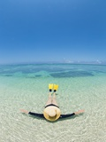 Relaxing in the Water, Lady Elliot Island, Great Barrier Reef Photographic Print by Nick Rains