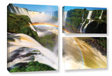 Iguassu Falls 2, 3 Piece Gallery-Wrapped Canvas Flag Set Prints by Cody York