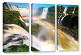 Iguassu Falls 2, 3 Piece Gallery-Wrapped Canvas Set Posters by Cody York