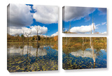 Beaver Marsh, 3 Piece Gallery-Wrapped Canvas Flag Set Gallery Wrapped Canvas Set by Cody York