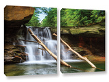 Brecksville Falls, 2 Piece Gallery-Wrapped Canvas Set Print by Cody York