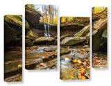 Blue Hen Falls 3, 4 Piece Gallery-Wrapped Canvas Staggered Set Print by Cody York