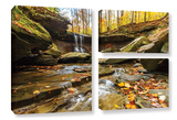 Blue Hen Falls 3, 3 Piece Gallery-Wrapped Canvas Flag Set Poster by Cody York