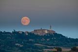 Full Harvest Moon over Pienza Photographic Print