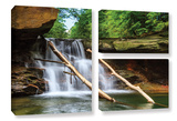 Brecksville Falls, 3 Piece Gallery-Wrapped Canvas Flag Set Posters by Cody York