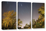 Star Trails, 3 Piece Gallery-Wrapped Canvas Set Print by Cody York