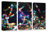 Bokeh 3, 3 Piece Gallery-Wrapped Canvas Set Print by Cody York