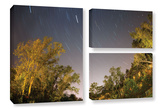 Star Trails, 3 Piece Gallery-Wrapped Canvas Flag Set Prints by Cody York